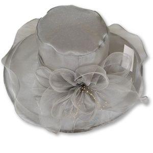 Grey dress hat